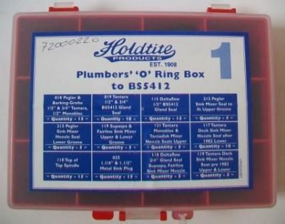 Holdtite Plumbers O Ring Small Box Set - 74000220